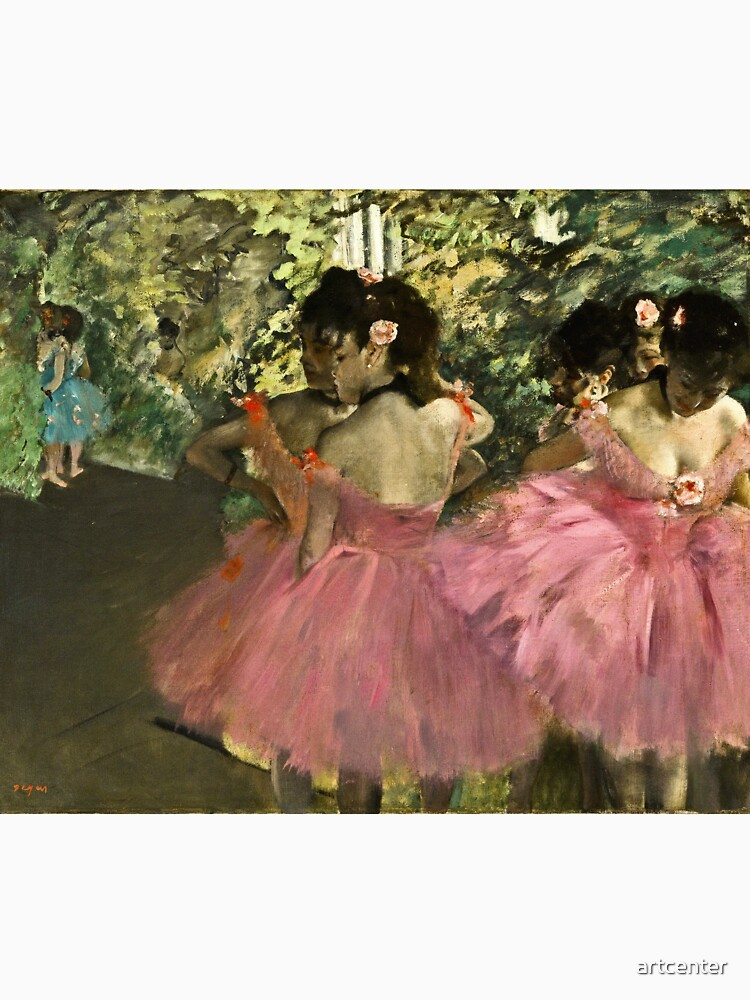 Edgar Degas - Dancers In Pink by artcenter