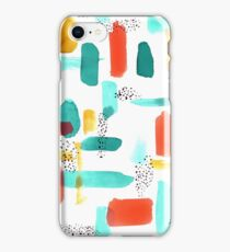 Mod Spots & Brushstrokes iPhone Case/Skin