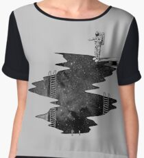 Space Diving Chiffon Top
