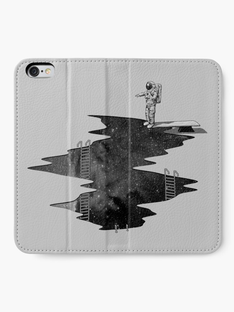 Alternate view of Space Diving iPhone Wallet