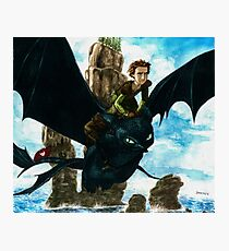 Toothless watercolor/ Desdentao acuarela Photographic Print