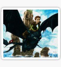 Toothless watercolor/ Desdentao acuarela Sticker