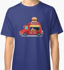 Street Food Concept with Burger Food Truck and Seller Classic T-Shirt