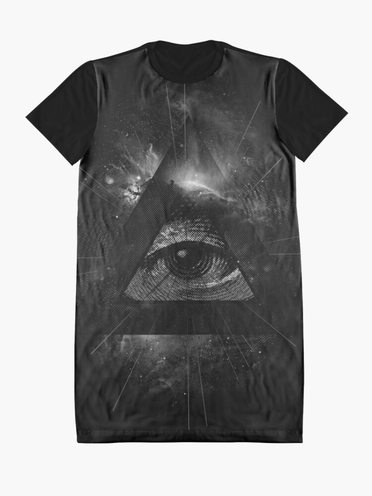 Vista alternativa de Vestido camiseta El ojo