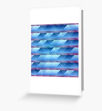 Blue plastic bars Greeting Card