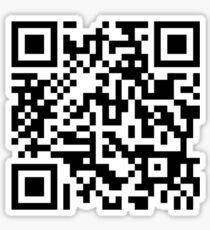 Barcode Rickroll! (black) Sticker
