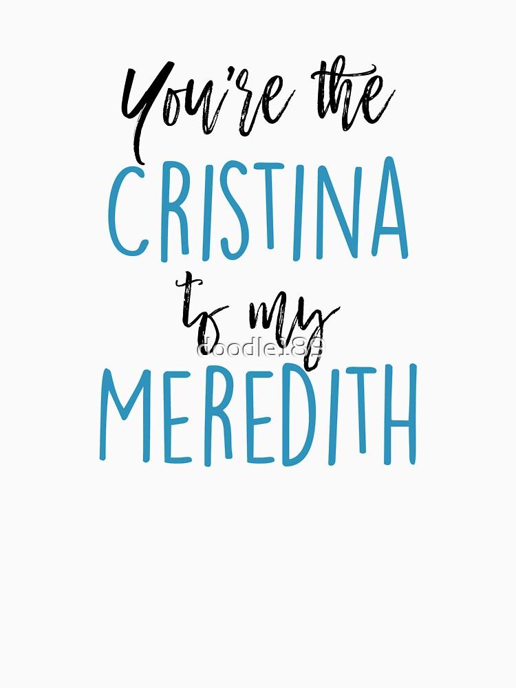 Du bist die Cristina meiner Meredith von doodle189