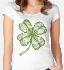 Vintage lucky clover Women's Fitted Scoop T-Shirt
