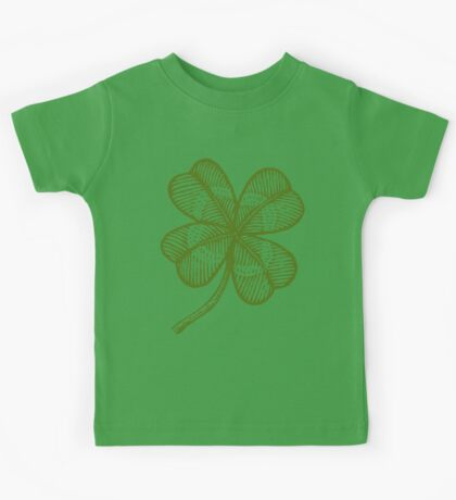 Vintage lucky clover Kids Clothes
