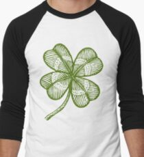 Vintage lucky clover Men's Baseball ¾ T-Shirt