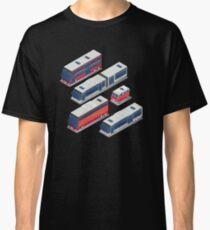 Isometric City Transportation Bus Set Classic T-Shirt