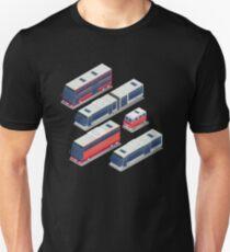 Isometric City Transportation Bus Set T-Shirt