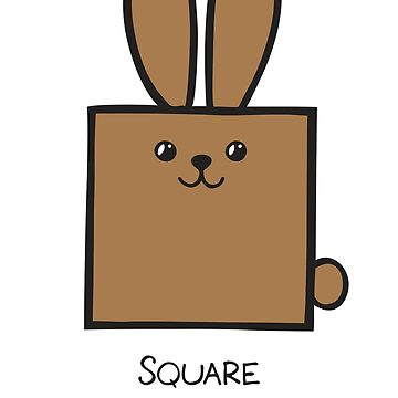 Square GeoBunny by 2redheadedbros