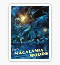 Macalania Woods [FFX] - Vintage Travel Poster Sticker