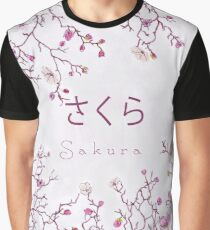 Japanese Sakura Blossom Tile Graphic T-Shirt