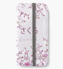 Japanese Sakura Blossom Tile iPhone Wallet