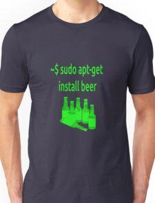 Linux sudo apt-get install beer Unisex T-Shirt