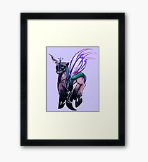 Queen Chrysalis. Framed Print