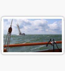 Sailing on the IJsselmeer Sticker