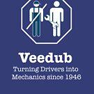 Veedub, Turning Drivers into Mechanics, white by CampWestfalia