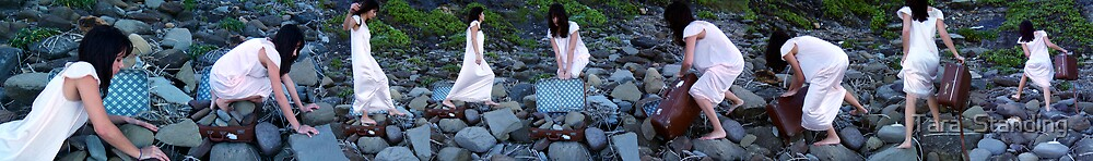 """I Carry the Suitcase #2"" 2007 digital media by Tara  Standing"