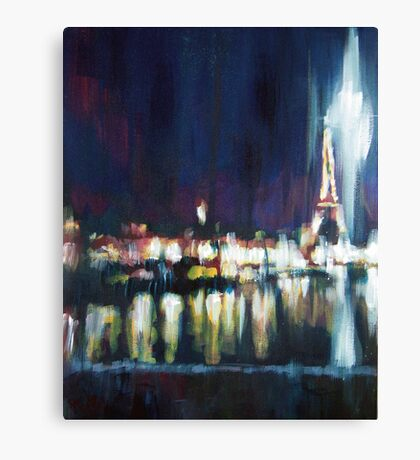 Paris at night part one Canvas Print