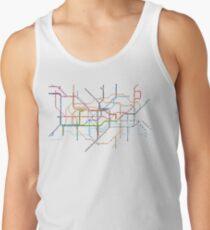 London Underground Pixel Map Men's Tank Top