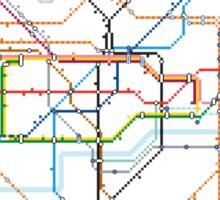 London Underground Pixel Map Sticker