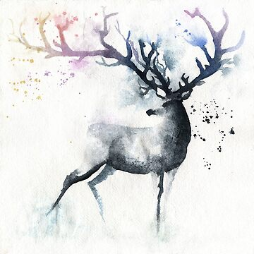Deer Art Deer Picture Vintage by katehunsa2017