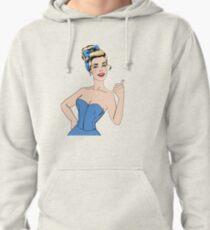 Pop Art Style Woman Gesturing Great Pullover Hoodie