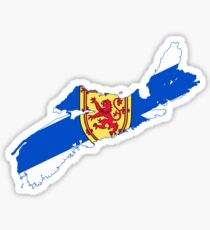 Nova Scotia Flag Map Sticker