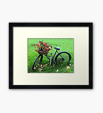 Bicycle Basket Framed Print