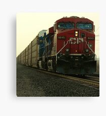 Ice nerves of steel..Fueled and indestructible Canvas Print