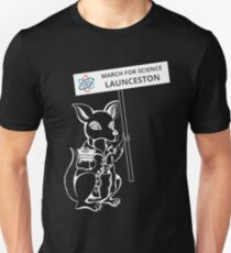 March for Science Launceston – Kangaroo, white T-Shirt