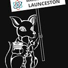 March for Science Launceston – Kangaroo, white by sciencemarchau