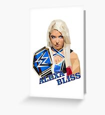 Alexa Bliss low poly Greeting Card