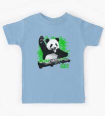 DJ Panda (vintage distressed look) Kids Tee