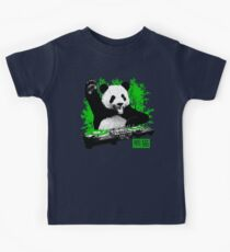 DJ Panda (vintage distressed look) Kids Tee