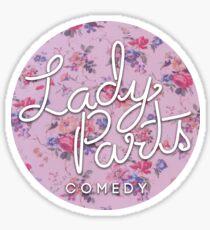 Lady Parts Floral Logo Circle Sticker