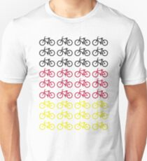 BICYCLE DESIGN 1 BLACK RED YELLOW Unisex T-Shirt