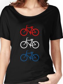 BICYCLE DESIGN 2 RED WHITE BLUE Women's Relaxed Fit T-Shirt