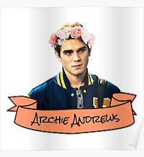 archie andrews flower crown sticker Poster
