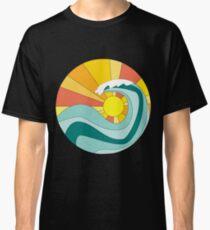 Crashing Wave and Sunset Classic T-Shirt