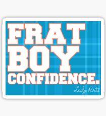 """Lady Parts """"Frat Boy Confidence"""" Sticker Sticker"""