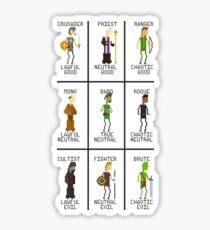 RPG Alignments Sticker