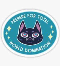 World Domination Cat (Black) Sticker