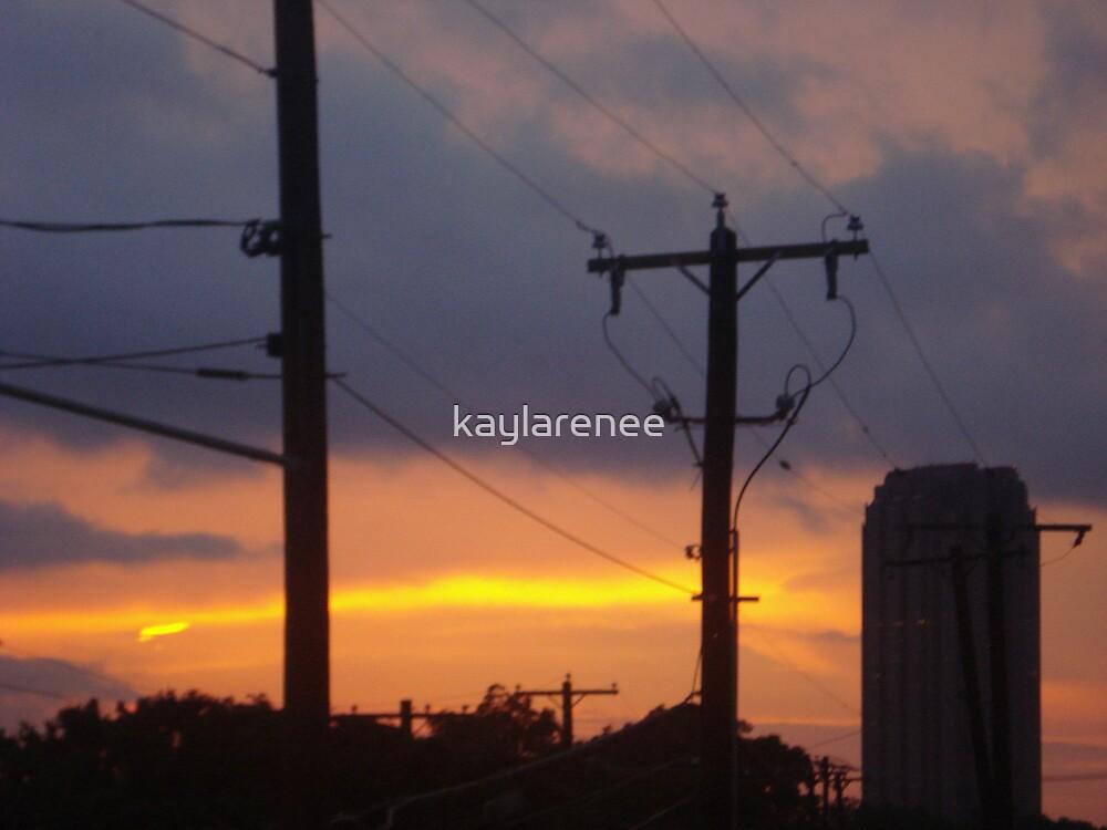 Sunset on Haskel by kaylarenee
