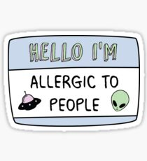Allergic to People Sticker