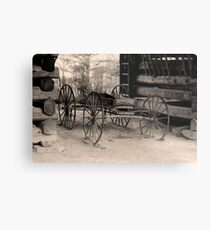 Wagon Of Old Metal Print