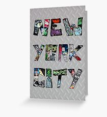 New York City Graffiti Street Art Greeting Card